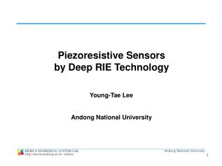 Piezoresistive Sensors  by Deep RIE Technology