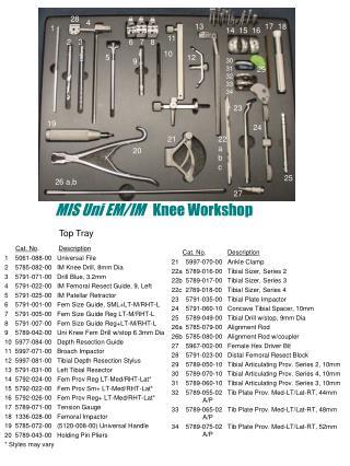 MIS Uni EM/IM    Knee Workshop