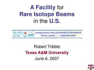 A Facility  for Rare Isotope Beams  in the  U.S.