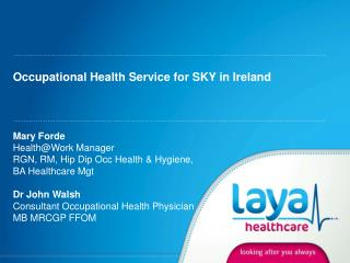 Occupational Health Service for SKY in Ireland