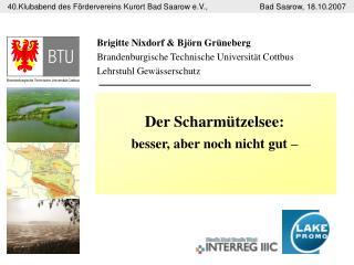 Brigitte Nixdorf & Björn Grüneberg Brandenburgische Technische Universität Cottbus