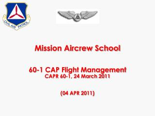 Mission Aircrew School