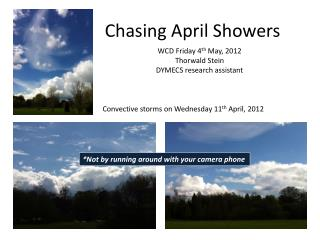 Chasing April Showers