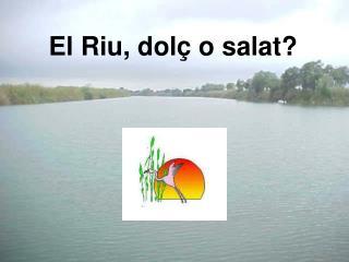 El Riu, dolç o salat?