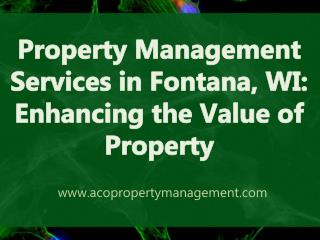 Property Management Services in Fontana | Aco property
