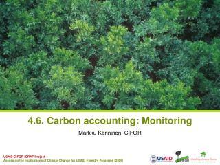 4.6. Carbon accounting: Monitoring