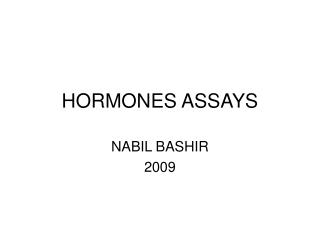 HORMONES ASSAYS