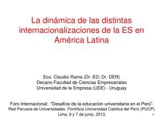 Foro Internacional:  �Desaf�os de la educaci�n universitaria en el Per�.