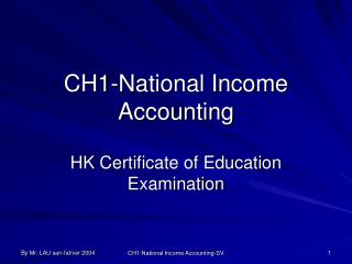 CH1-National Income Accounting