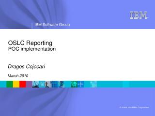 OSLC Reporting POC implementation