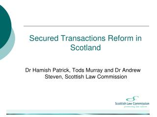 Secured Transactions Reform in Scotland