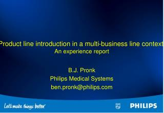 Product line introduction in a multi-business line context. An experience report