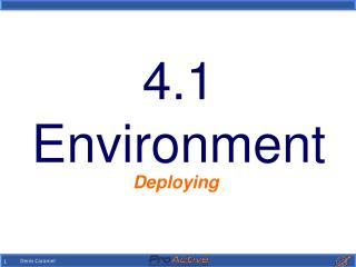 4.1 Environment