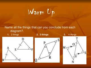 Name all the things that can you conclude from each diagram?.