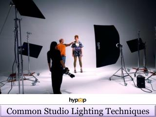 Common studio lighting techniques