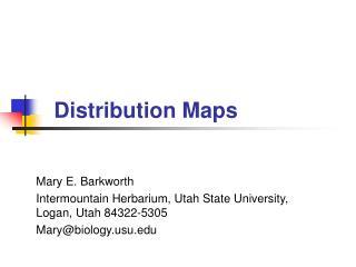Distribution Maps