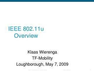 IEEE 802.11u Overview