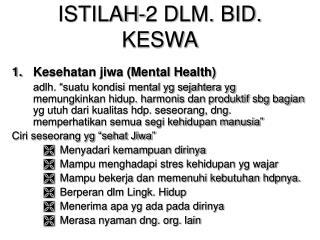 ISTILAH-2 DLM. BID. KESWA
