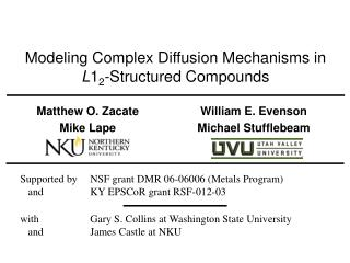Modeling Complex Diffusion Mechanisms in  L 1 2 -Structured Compounds