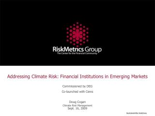 Addressing Climate Risk: Financial Institutions in Emerging Markets