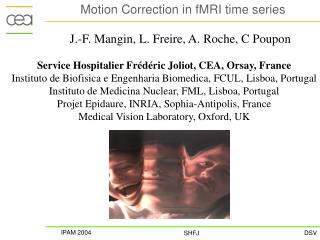 Motion Correction in fMRI time series