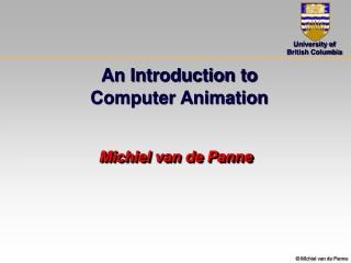 An Introduction to  Computer Animation