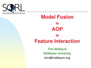 Model Fusion  AOP  Feature Interaction