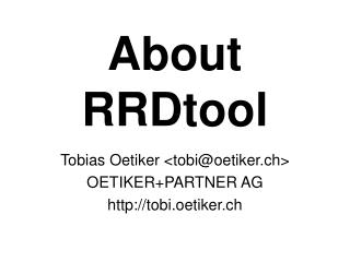 About RRDtool