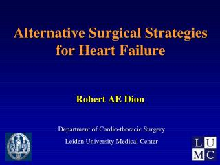 End-Stage Heart Failure:  Surgical Options