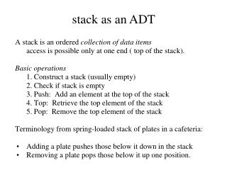 stack as an ADT