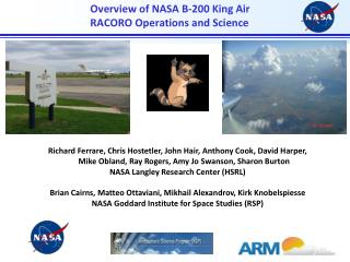 Overview of NASA B-200 King Air  RACORO Operations and Science