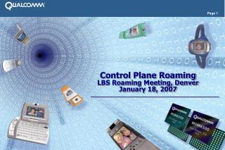 Control Plane Roaming LBS Roaming Meeting, Denver January 18, 2007