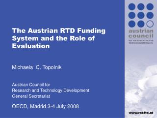 The Austrian RTD Funding System and the Role of Evaluation