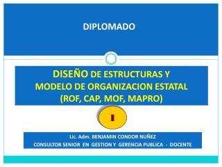 Lic. Adm. BENJAMIN CONDOR NUÑEZ CONSULTOR SENIOR  EN  GESTION Y  GERENCIA PUBLICA  -  DOCENTE