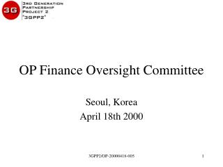 OP Finance Oversight Committee