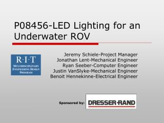 P08456-LED Lighting for an Underwater ROV