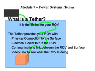 Module 7 – Power Systems : Tethers