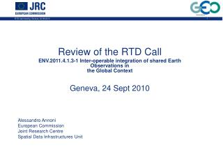 Review of the RTD Call