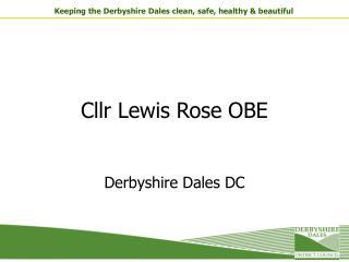 Cllr Lewis Rose OBE
