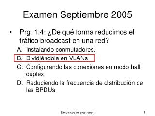Examen Septiembre 2005