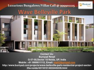 Wave Belleville Park Villas in Sector 25 Noida