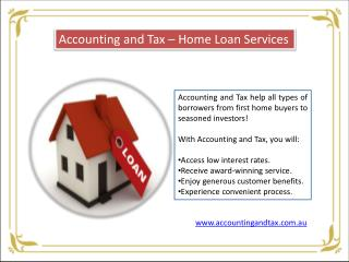 Home Loan Services in Melbourne