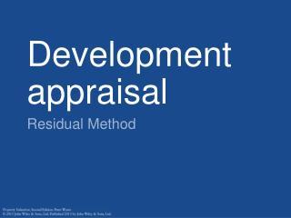 Development appraisal