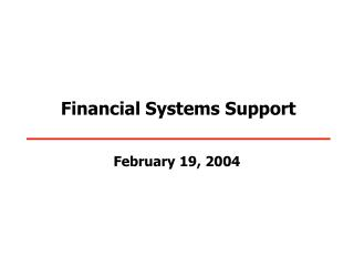 Financial Systems Support