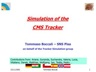 Simulation of the  CMS Tracker