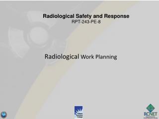 Radiological  Work Planning
