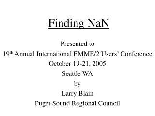 Finding NaN