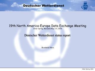 Deutscher Wetterdienst status report
