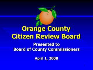 Orange County Citizen Review Board