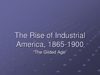 The Rise of Industrial America, 1865-1900